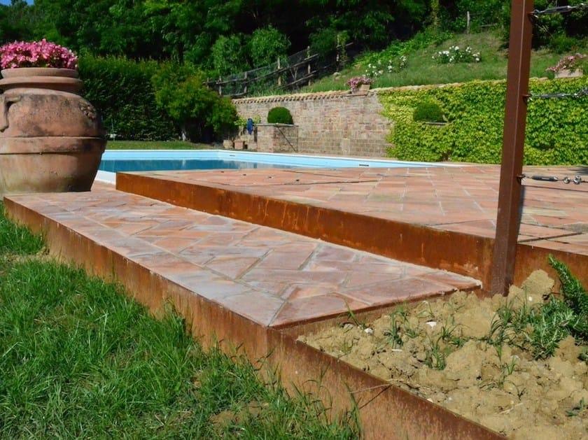 Alubord bordura per aiuole in acciaio corten by for Bordura giardino