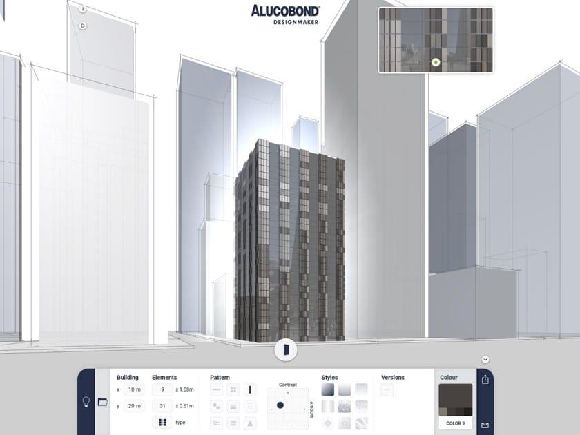 Web Application ALUCOBOND® Designmaker by 3A Composites