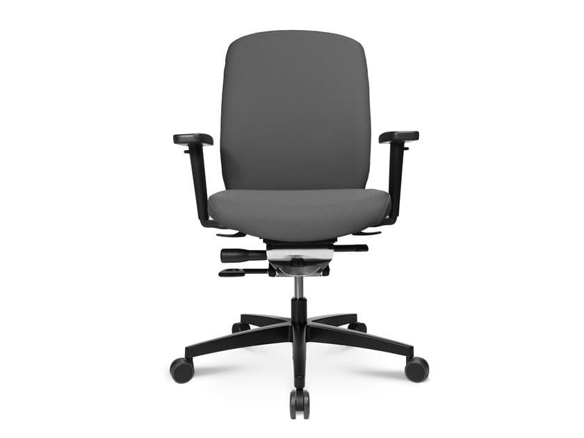 Swivel task chair with 5-Spoke base ALUMEDIC 15 by WAGNER