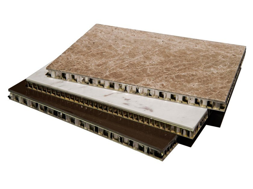 Marble wall/floor tiles ALUMINIUM HONEYCOMB by AKDO