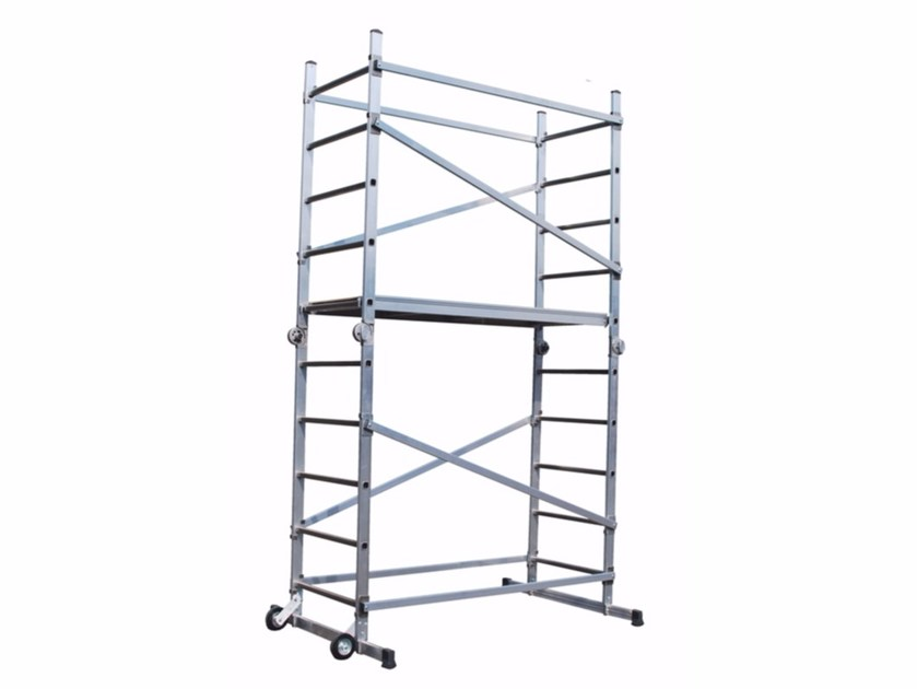 Mobile scaffolding and ladder for construction site ALUMIX by Frigerio Carpenterie