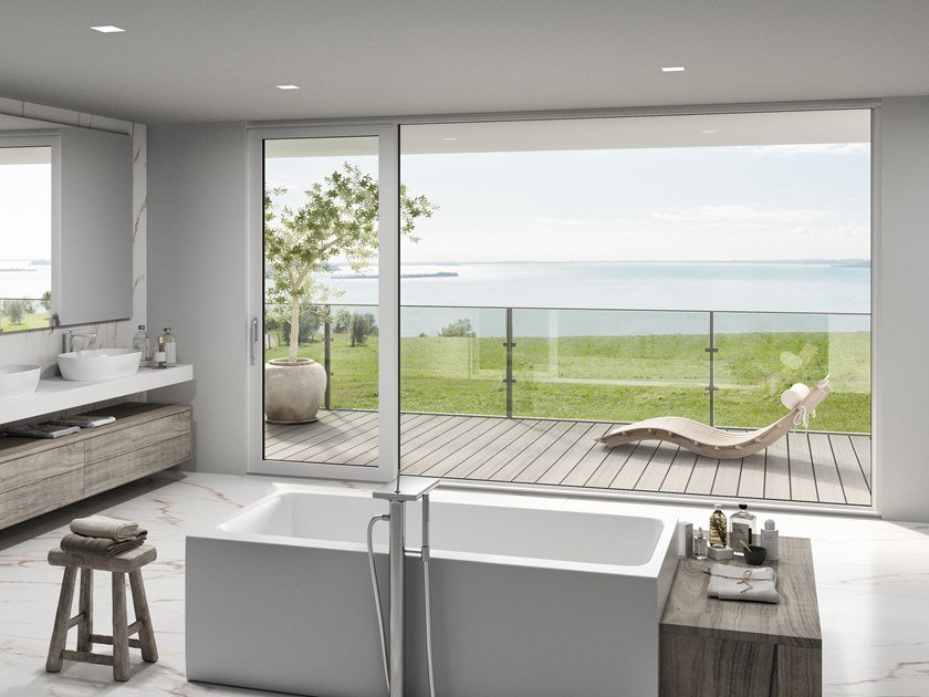 Porta-finestra alzante scorrevole in alluminio ALUSLIDE LUX by Oknoplast