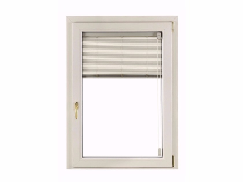 PVC top-hung window with built-in blinds ALUTEK by FOSSATI PVC