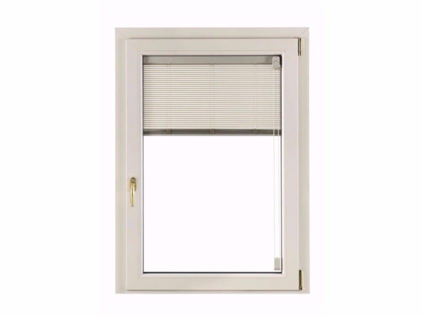 Finestra ad anta ribalta con doppio vetro in pvc con veneziana integrata alutek fossati pvc - Finestre a doppio vetro ...