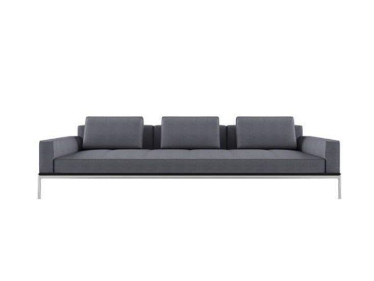 3 seater fabric sofa ALUZEN P03 by Alias