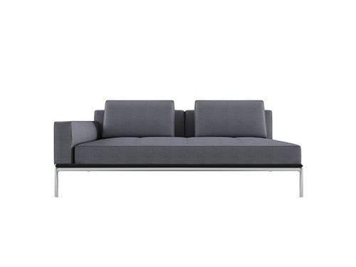 Sectional fabric sofa ALUZEN P06 by Alias