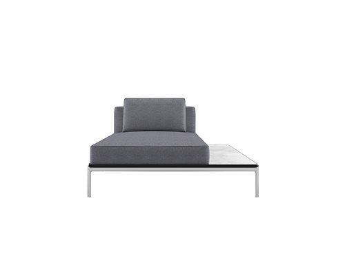 Fabric day bed ALUZEN P09 by Alias