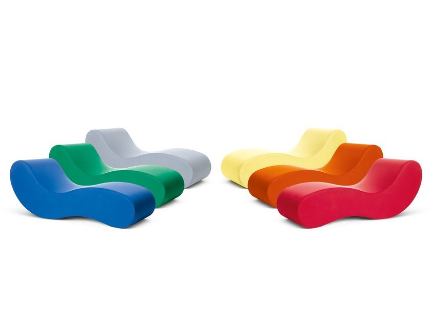 Fabric lounge chair ALVAR by Gufram
