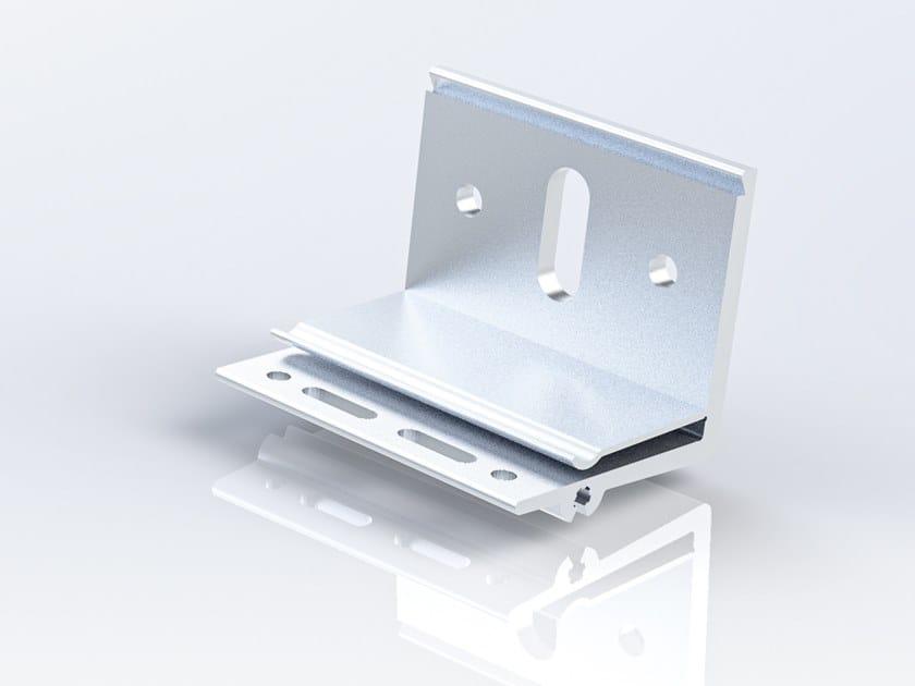 """Staffa ad """"L"""" ricavata da estrusione di alluminio ALX 60 by Anchoriv"""