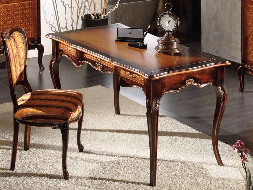 Solid wood writing desk with drawers ALYSSA | Writing desk by Arvestyle