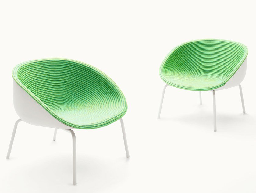 Garden stackable rope easy chair AMABLE | Easy chair by paola lenti