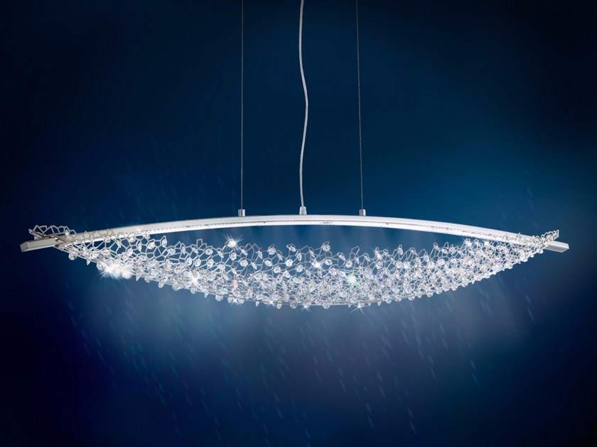 LED direct light pendant lamp with Swarovski® Crystals AMACA   Pendant lamp by Swarovski