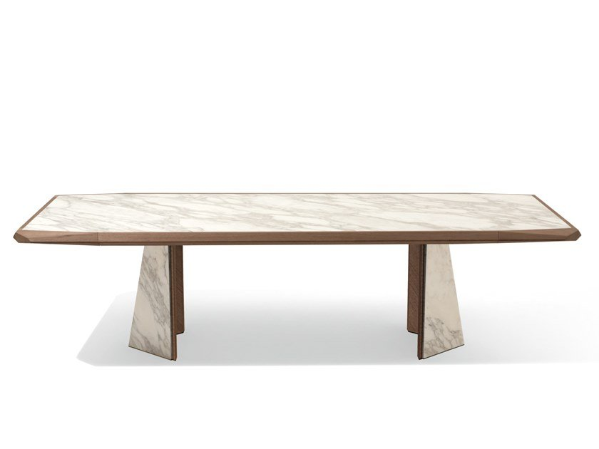 Rectangular marble table AMADEUS by Giorgetti