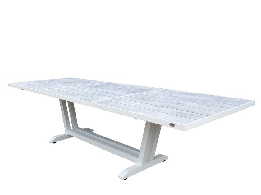 Extending rectangular HPL garden table AMAKA | Table by Les jardins