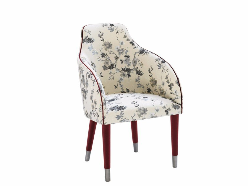 Fabric chair with armrests AMAL HIGH | Fabric chair by Smania