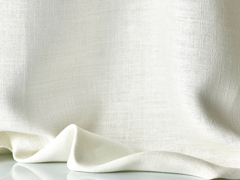 Solid-color linen fabric for curtains AMALFI by Dedar