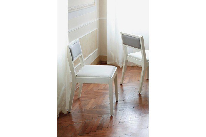 Upholstered wooden chair AMALFI | Upholstered chair by COLLI CASA