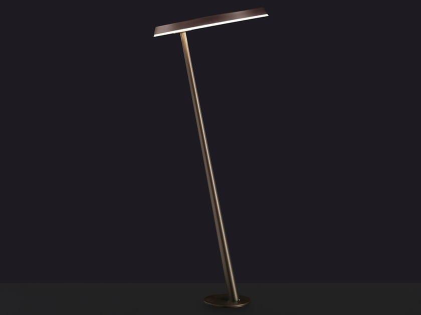 LED metal bollard light AMANITA | Bollard light by Oluce