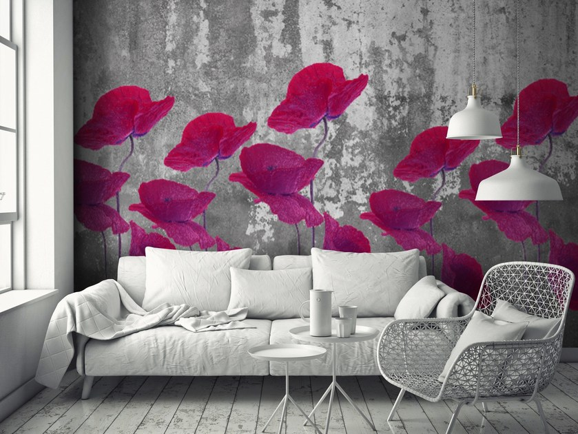 Adhesive washable wallpaper AMAPOLAS by Wall LCA