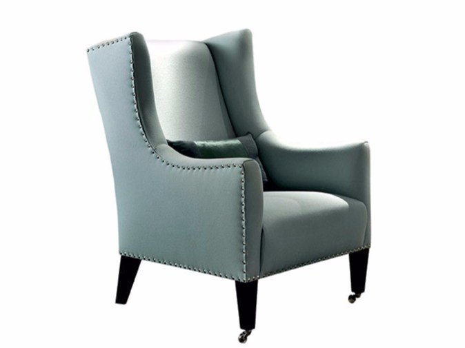 Upholstered fabric armchair AMARILLIS by SOFTHOUSE