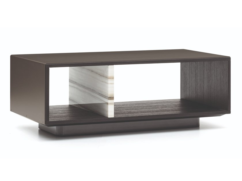 Low coffee table with storage space AMBER | Coffee table by Minotti