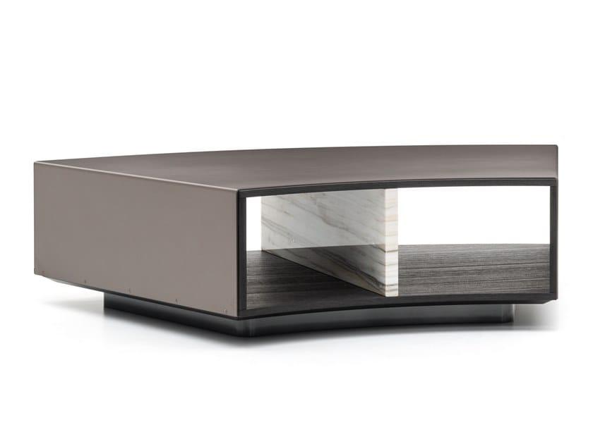 Tavolino basso con vano contenitore AMBER by Minotti