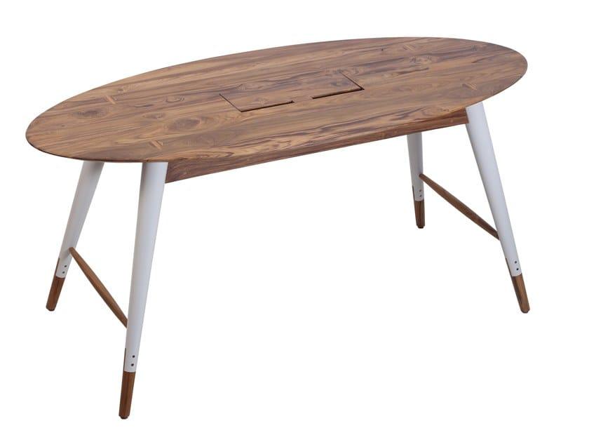 Oval wooden table AMBU | Oval table by ALANKARAM