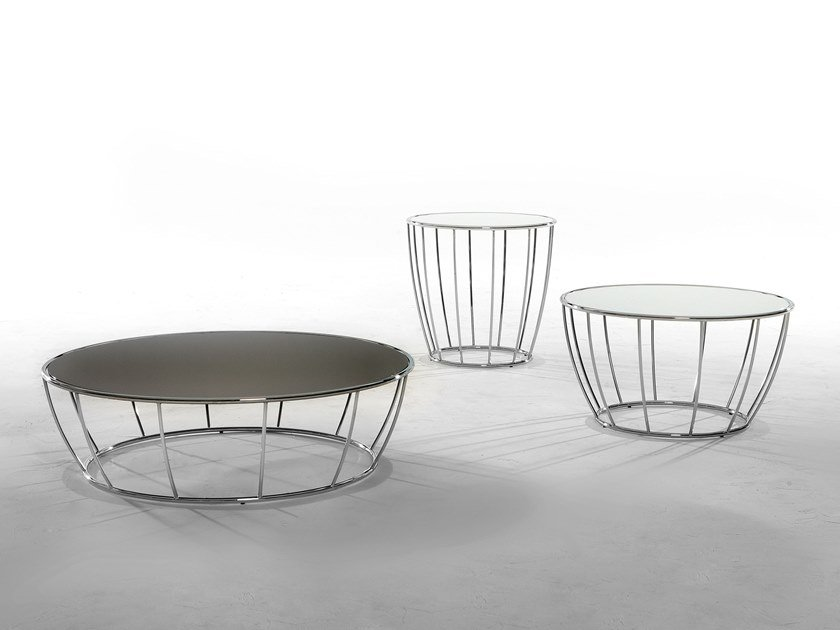 Low round coffee table AMBURGO by Tonin Casa