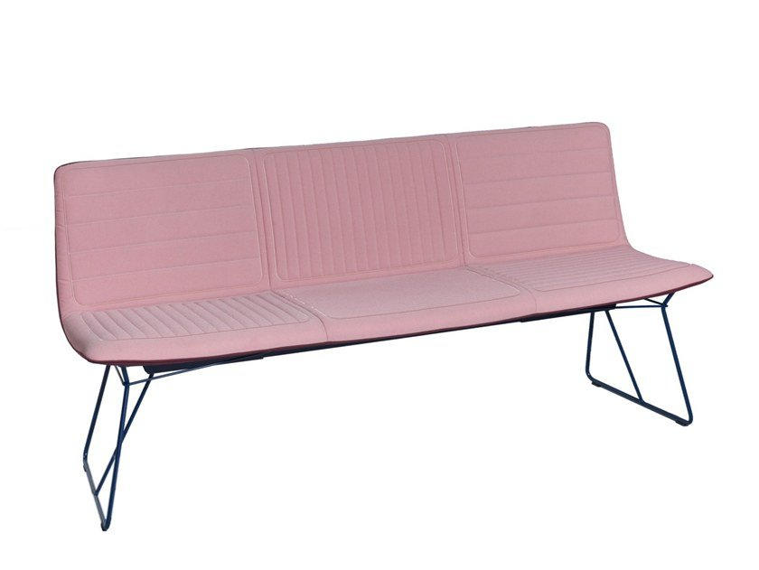 Fabric bench with back AMELIE | Bench by Freifrau