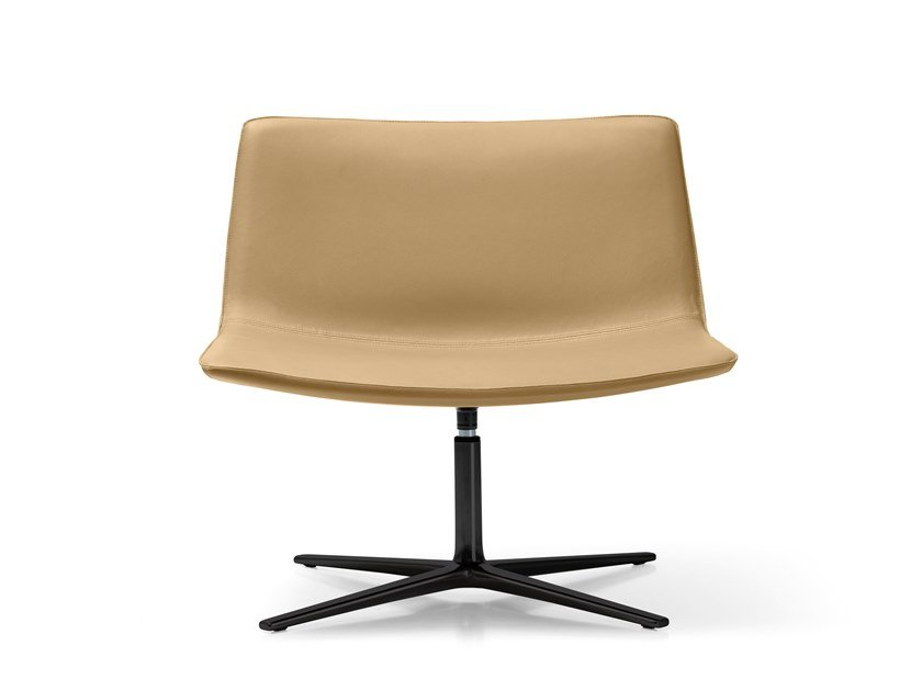 Swivel easy chair with 4-spoke base AMELIE LOUNGE | Easy chair by Quinti Sedute