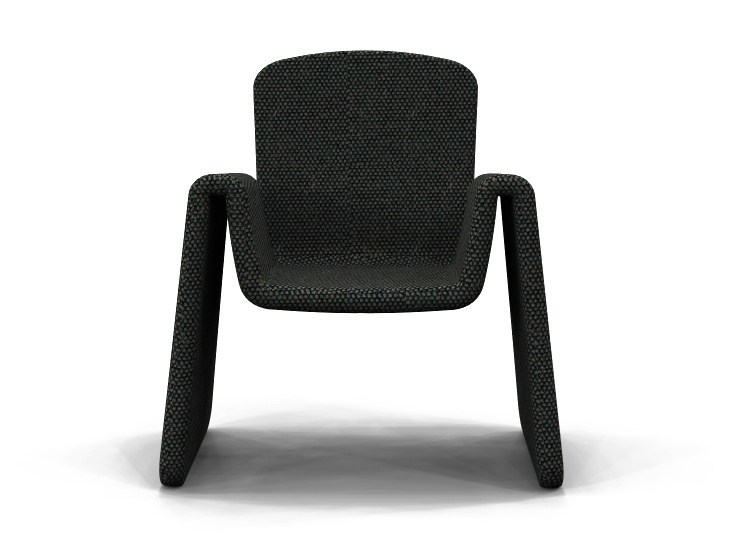 Fabric easy chair with armrests AMI CHAIR by ZAD ITALY