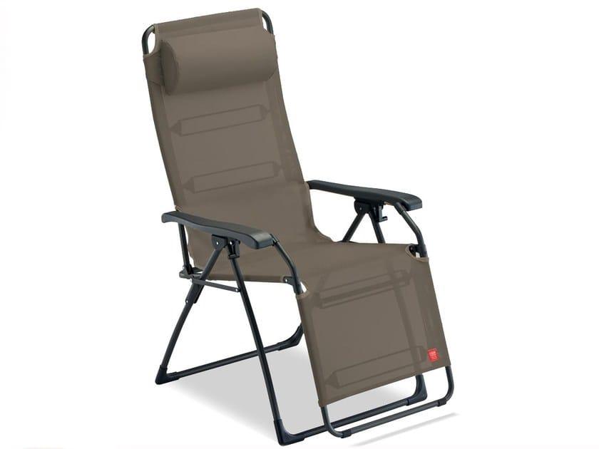 Sedie Sdraio Alluminio Con Poggiapiedi.Sedia A Sdraio Con Braccioli Con Poggiapiedi Amida Fiam