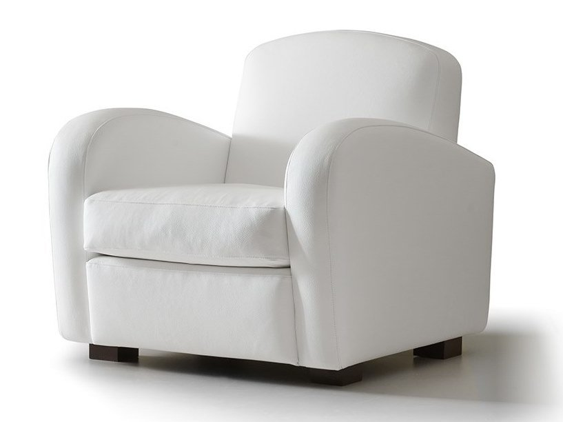 Fabric armchair with armrests AMIE by VALENTINI