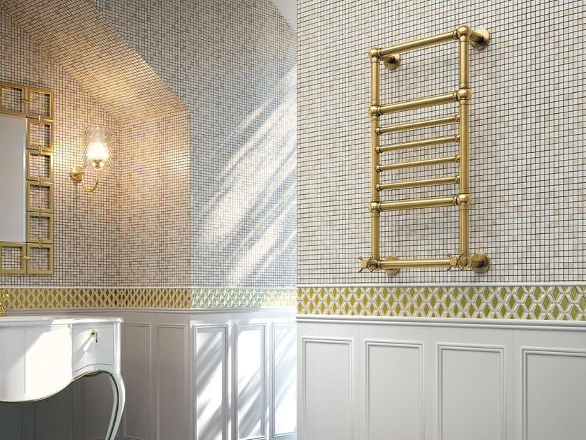 Scaldasalviette in ottone a parete AMIRA by SCIROCCO H
