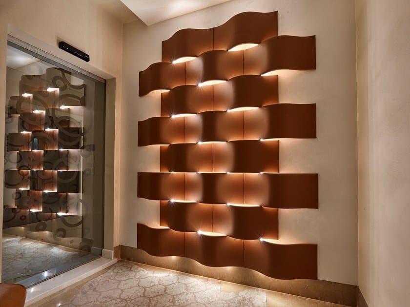 Modular imitation leather 3D Wall Panel AMLETO by IndakoLab