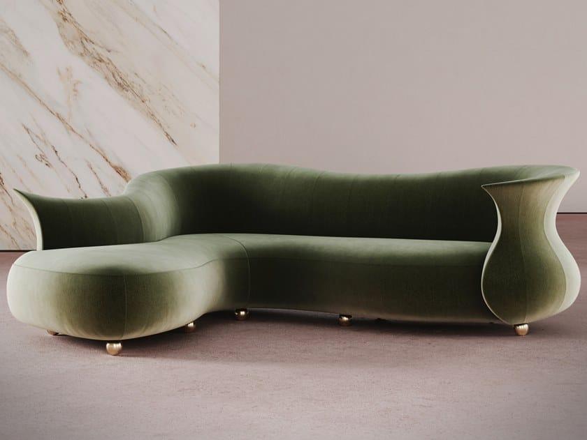 Curved sofa AMPHORA CORNER by Desforma