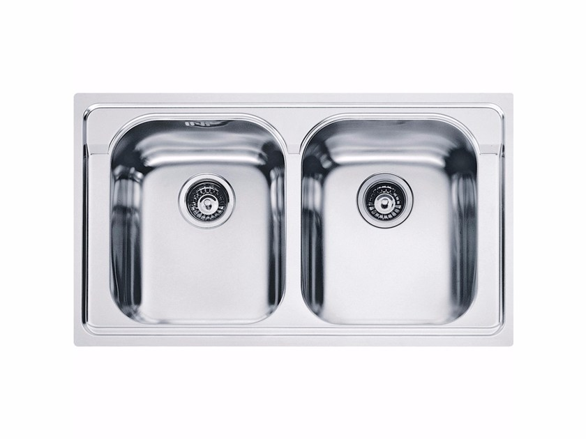 Lavello a 2 vasche da incasso in acciaio inox AMX 620 By FRANKE