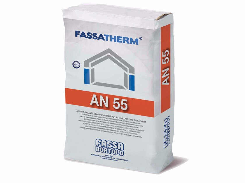 Special fixing for insulation AN 55 by FASSA