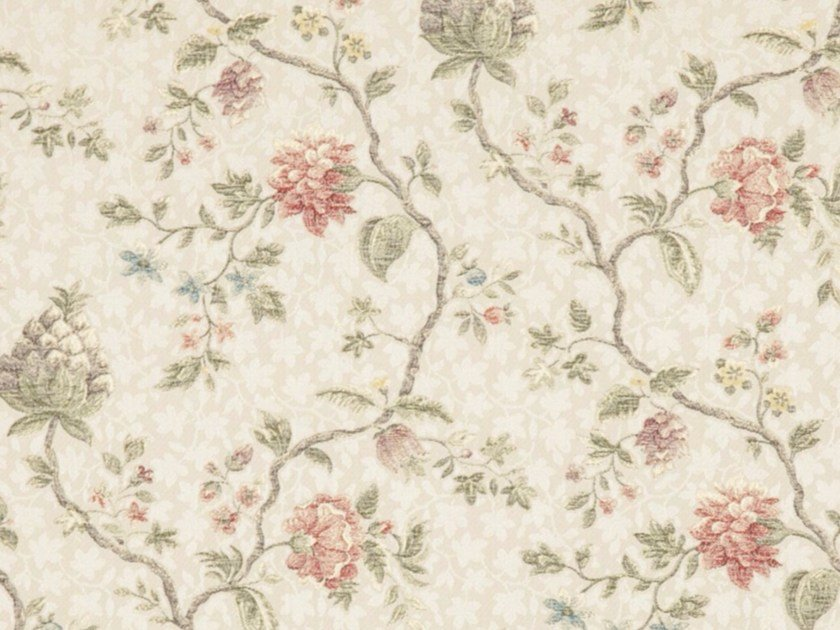 Viscose fabric with floral pattern for curtains ANAIS by Gancedo