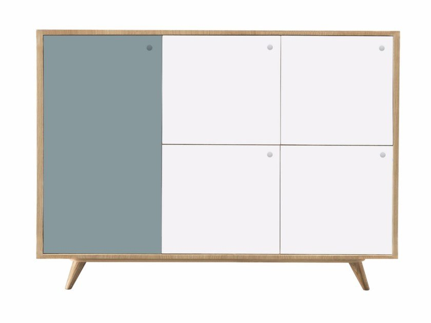Contemporary style lacquered wooden sideboard with doors ANATOLE by AZEA
