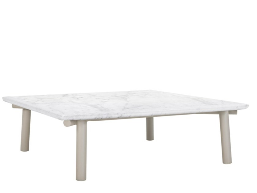 Rectangular coffee table with marble or ceramic top ANATRA | Coffee table by JANUS et Cie
