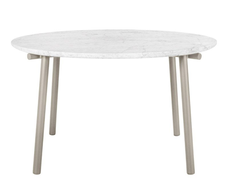 Round dining table with marble or ceramic top ANATRA | Round table by JANUS et Cie