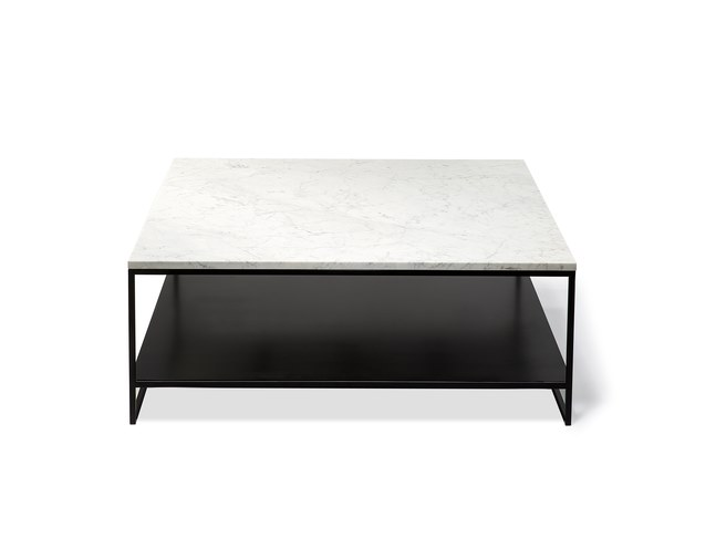 Square Carrara marble coffee table ANDERS | Square coffee table by Ethnicraft
