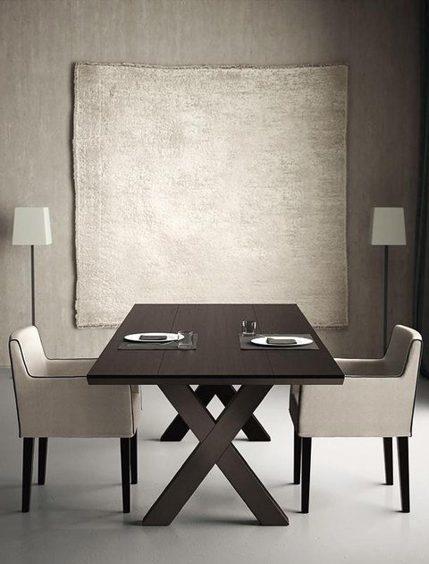 Delightful Rectangular Dining Table ANDREA 011 By Casamilano