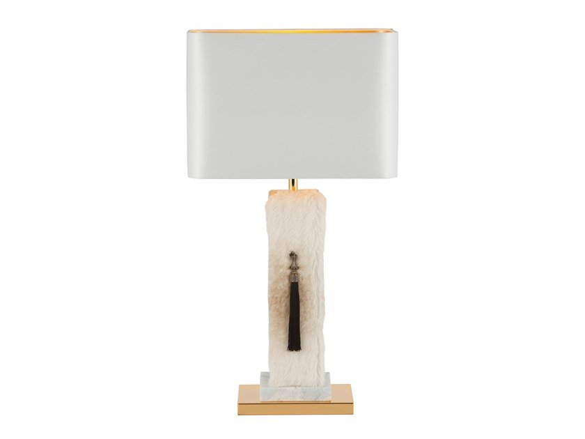 Leather table lamp ANDREADE by Green Apple
