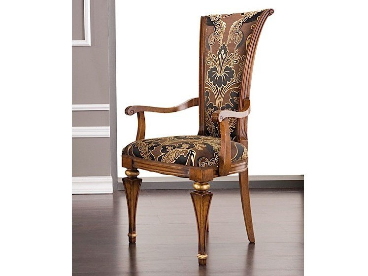 Upholstered chair ANDREAS   Chair with armrests by Arvestyle