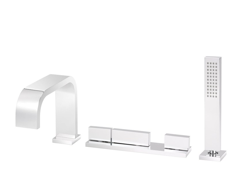 Thermostatic bathtub set with hand shower ANDREW | Bathtub set with hand shower by rvb