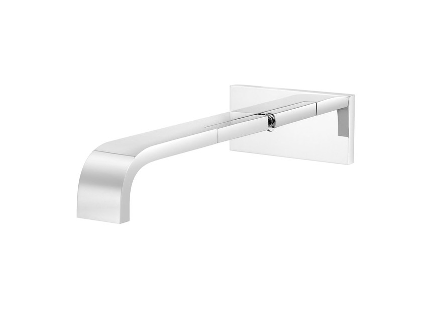Wall-mounted 1 hole washbasin mixer with plate ANDREW | Wall-mounted washbasin mixer by rvb