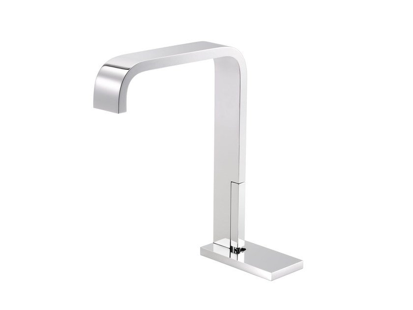Countertop 1 hole washbasin mixer with plate ANDREW | Washbasin mixer with plate by rvb