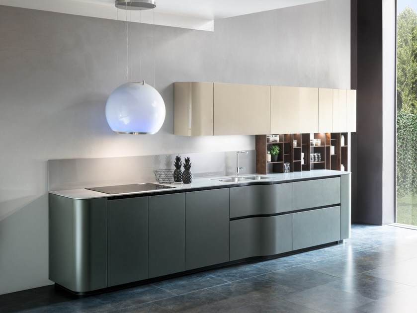 Linear Dekton® kitchen ANDROMEDA CURVY by Floritelli Cucine